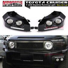 2007-2014 Toyota Fj Cruiser BLACK Bumper Driving Fog Lights LED DRL Running Lamp