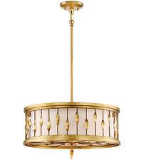 20'' Minka Lavery Olivetas Drum Pendant (Converts to Flush Mount) -Antique Gold
