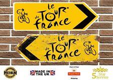 More details for tour de france cycling metal road sign vintage retro garage sign man cave