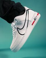 Nike Air Force 1 React Mens White Black Red Shoe Sneaker UK Size 6-12