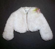 """VINTAGE Barbie DOLL CLOTHES: """"andando al ballo"""" giacca di pelliccia bianca + bustino 1964"""