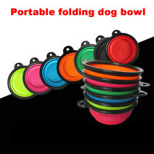 Portable Collapsible Pet Dog Bowl Foldable Water Feeding Travel Bowl Cup