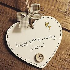 Personalised Birthday Plaque 1st 13th 18th 21st 30th 40th 50th 60th Gift Present