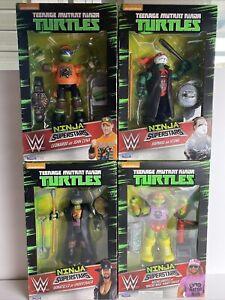 Teenage Mutant Ninja Turtles WWE Ninja Superstars Set of 4 - 2016 Series 1 Lot