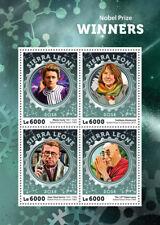 Sierra Leona 2016 estampillada sin montar o nunca montada premios Nobel Dalai Lama Marie curie sellos 4v m/s