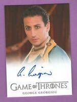 Game of Thrones Season 3: Autograph Card - George Georgiou as Razdal Mo Eraz