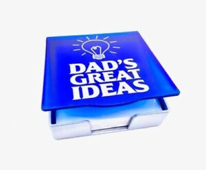 Dad's Great Ideas Memo Holder Gift, with paper 4″ x 4″ Dad's Birthday,