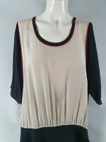 Country Road Two Tone Batwing Fitted Skirt Dress Sz M