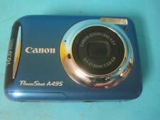 Canon PowerShot A495 10.0MP Digital Camera - Blue Works great