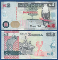 SAMBIA / ZAMBIA 2 Kwacha 2012  UNC  P.49 a