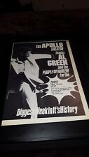 Al Green Apollo Theater Rare Original Promo Poster Ad Framed!