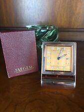 Jaeger-LeCoultre Folding Alarm Pink Copper Vintage Deco 211m Clock Works! w/ Box