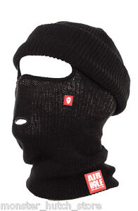 NEW WITH TAGS Airhole Unisex B4 BEANIECLAVA FACEMASK BLACK LIMITED RELEASE OSFA