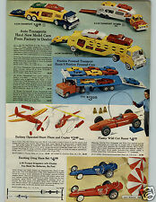 1966 PAPER AD Toy Auto Transport Friction Tonka Camper Jeep Mobile Home VW Bus
