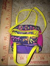 Barbie Vintage Purple Yellow Pink 80's Duffle Gym Athletic Book School Bag