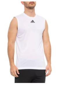 Adidas Mens Climalite White Tank Top Sleeveless Shirt Size Large
