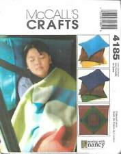 4185 MCCALL'S CRAFTS COZY LAP QUILT AND PILLOW CASES