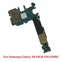 Main Motherboard Replacement for Samsung Galaxy S8 64GB SM-G950U Unlocked Card