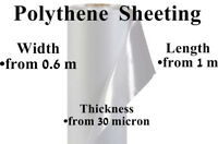 Clear or Black Polythene Poly Sheeting Plastic Various Width Length Thickness