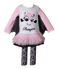 BONNIE JEAN Little Girl 4, 6 Glampire Halloween Top & Legging Set NWT $55
