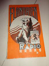 ancien depliant publicitaire radio recepteurs flandrien radio arras