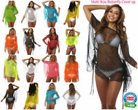 Womens Beach Wear Swimwear Swimsuit Bikini Cover Up Shirt Dress Coqueta sheer NW