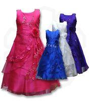 Flower Girls Kids Wedding Formal Bridesmaid Party Ball Gown Prom Princess Dress