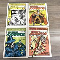 1974 Inside Comics Vol 1 no 1-4 Eisner Beck Ditko Marvel Neal adams R Crumb