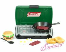 """Sophia's Camping Series Green Coleman Camp Stove and Food Set For 18"""" Doll New *"""