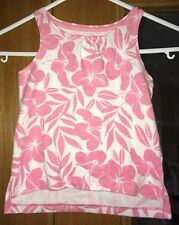 Girls Pink And White Pattern GAP Vest Size 2 Years