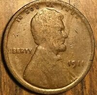 1911 USA LINCOLN WHEAT SMALL CENT PENNY