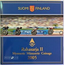 2005 Finland Euro Set 9 Coins IPS Athletic Open European Championship Version 2