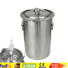 Portable Handle 20L 5 Gallon Brewing Kettle,Stainless Steel Beer Wine Pot