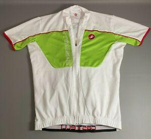 Castelli Full Zip Cycling Jersey Biking Stretch Pockets Lightweight | Size XL