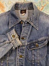 New listing Vtg 50s Lee Rider Denim Jean Jacket J131 Xs Faded Thin Sanforized Union Made