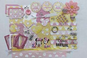 Disney Baby Minnie Mouse Custom Mini Book Album Kit Scrapbook