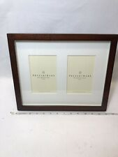 New Pottery Barn Double Matted Gallery Wall or Tabletop Wood Picture Frame