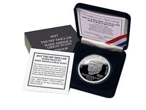 2017 Trump Dollar MAGA 1 oz Silver Capsuled $25 Norfed Proof Round W/OMP/COA