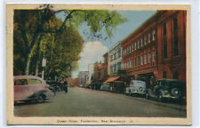 Queen Street Cars Fredericton New Brunswick Canada postcard