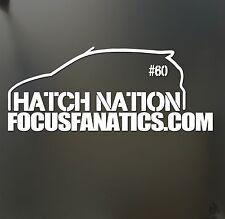 Focus hatch nation Sticker & # 60 sticker JDM Drift Honda lowered car window