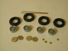 1 / 24ième échelle gravé fil roues assemblés par des répliques K&R