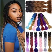 "24"" Jumbo Hair Extensions Ombre Braiding Hair Expression Box Braids For Human FH"