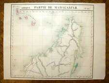 ARCHIPEL DES COMORES MAYOTTE MADAGASCAR Carte d'Afrique VANDERMAELEN 1827 map