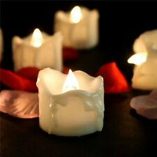 1 6 12 Pcs LED Candle Flickering Flameless Timer Battery Tea Lights Operated Wax