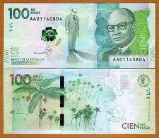 Colombia, 100000 (100,000) Pesos 2014 (2016), AA-Prefix Highest Denomination UNC