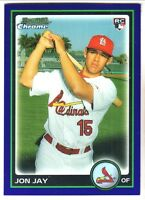 2010 Bowman Chrome Draft PURPLE REFRACTOR #BDP18 JOHN JAY RC St Louis Cardinals