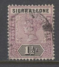 Sierra Leone 1897 1 1/2d Dull Mauve & Black SG43 FINE USED WITH CDS