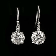 Gorgeous Dangling Style GIA Certified Diamond  Stud Earrings 18k White Gold