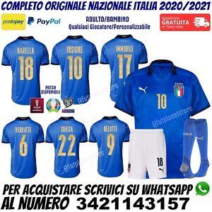Maglia Italia Nazionale 2020 2021 Barella Insigne Immobile Verratti Chiesa Blu