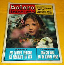 BOLERO FILM 1970 n. 1205 Ottavia Piccolo, AL Bano, Romina Power, Francoise Hardy